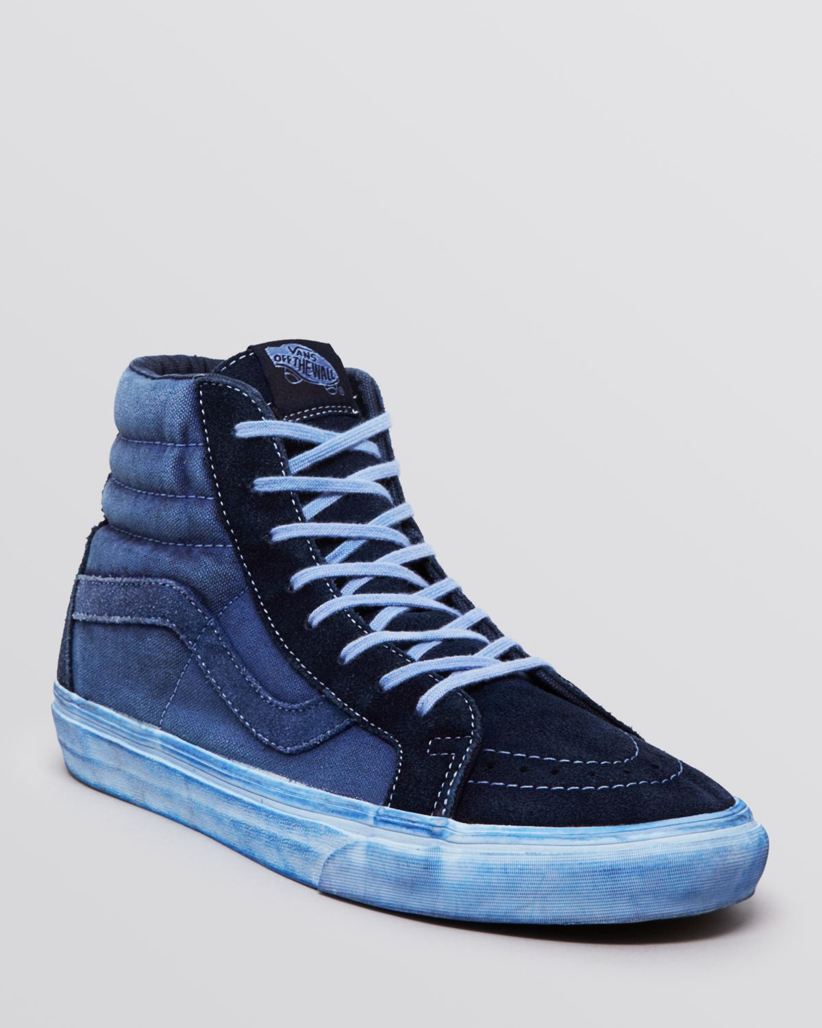 Vans Sk8 High Top Reissue Ca Sneakers In Blue For Men Lyst