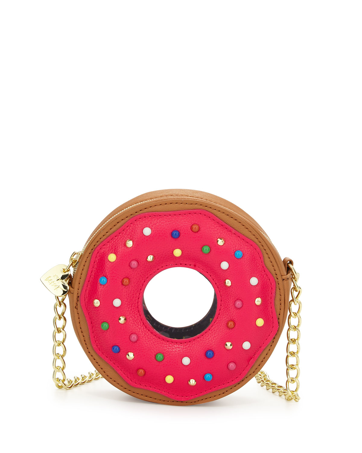 Lyst Betsey Johnson Donut Faux Leather Crossbody Bag In