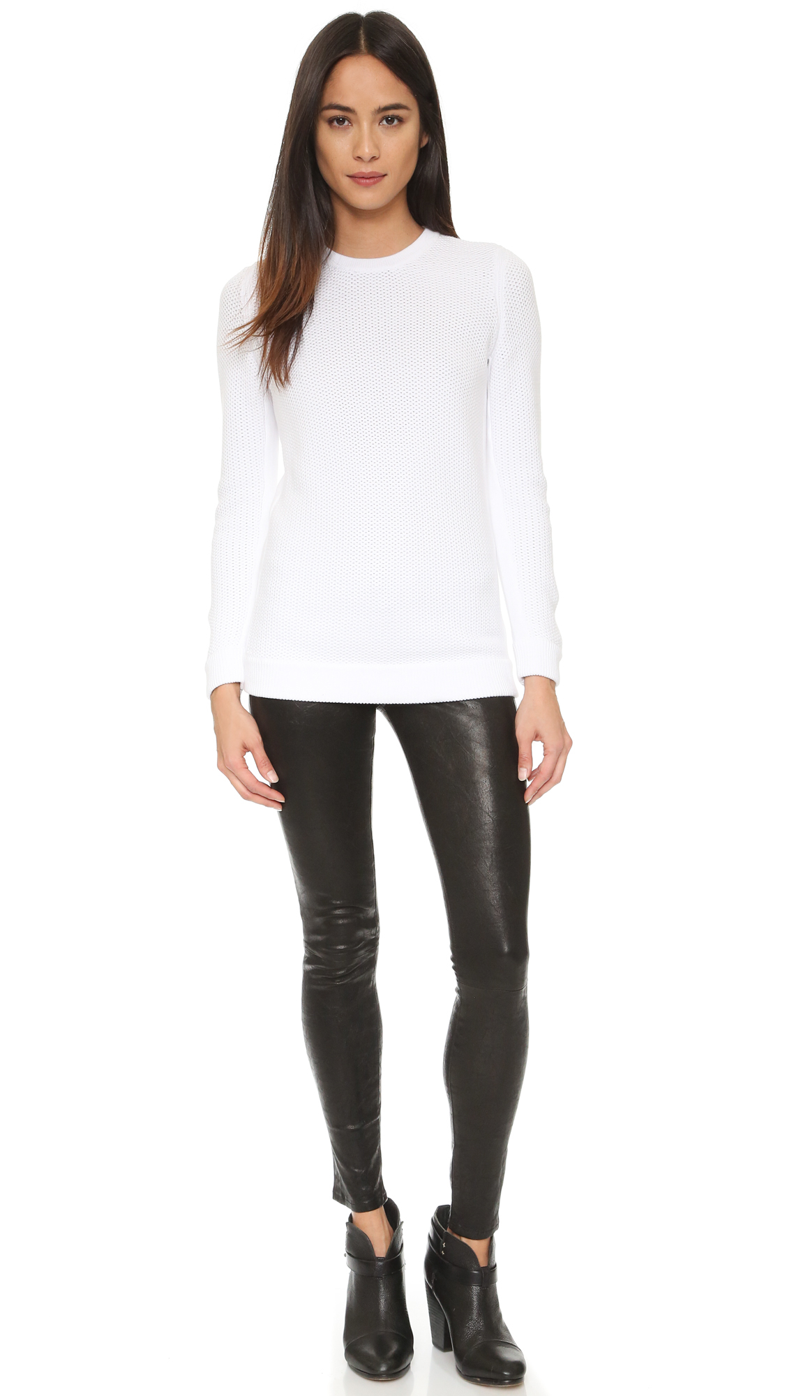 Rag & bone Rita Boyfriend Sweater in White | Lyst