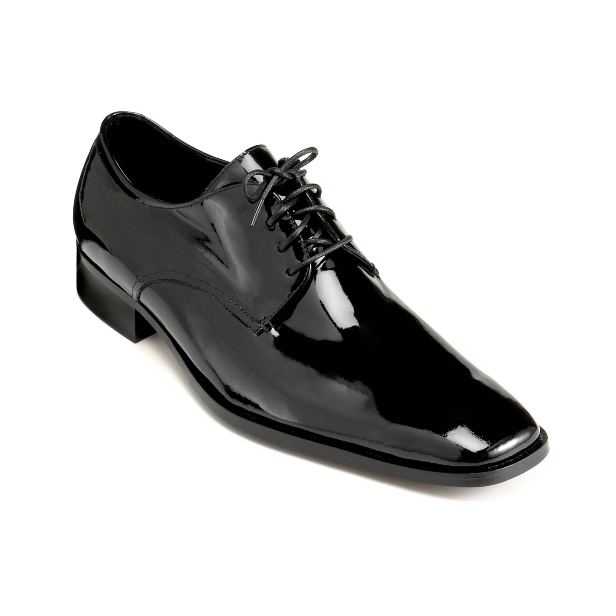 calvin klein gareth tuxedo oxfords in black for lyst