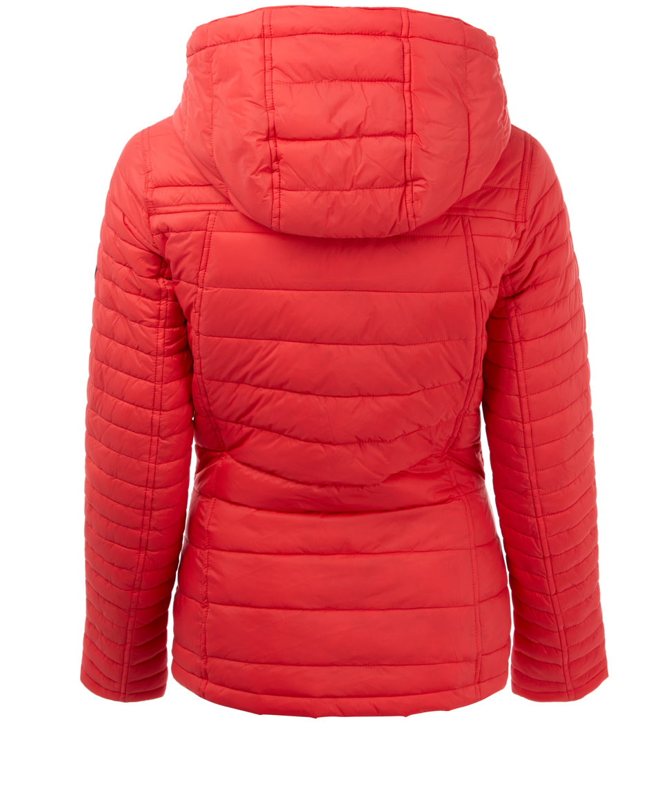 Barbour Red Landry Baffle Quilted Jacket In Red Lyst