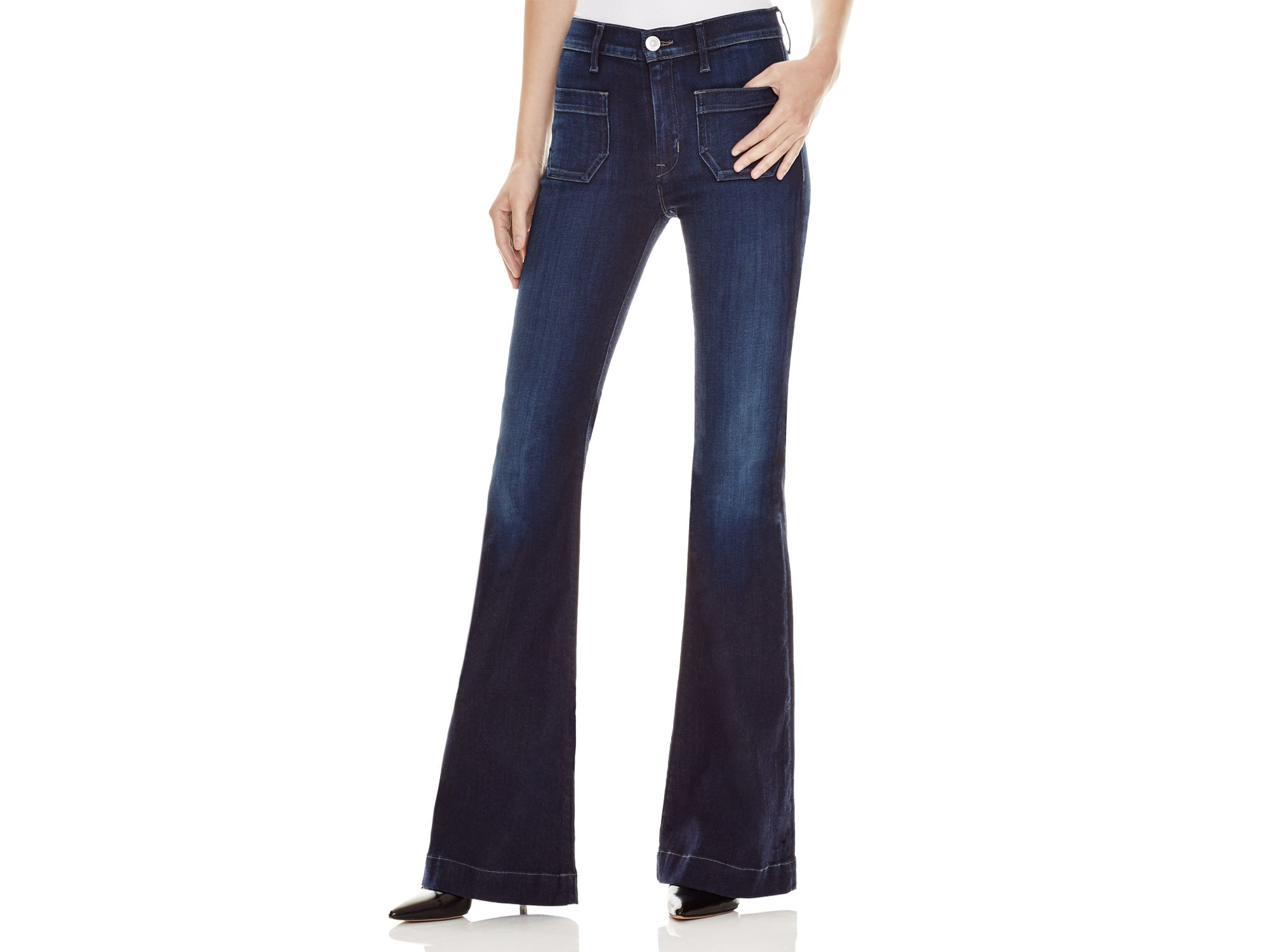 dc394dc0334 Hudson Jeans Taylor High Rise Flare Jeans In Rogue Waves in Blue - Lyst