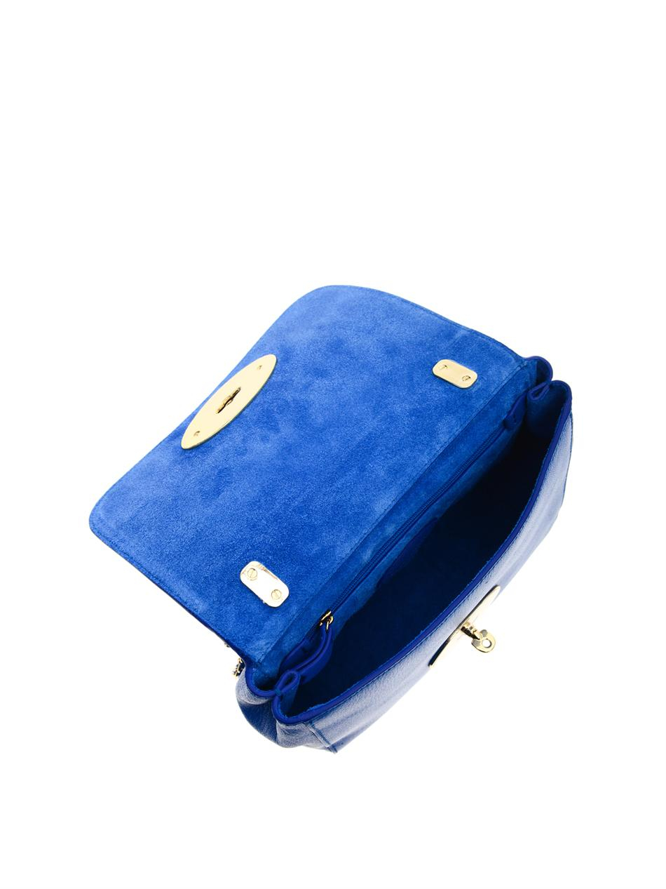 b2bce961b781 Lyst - Mulberry Lily Leather Shoulder Bag in Blue