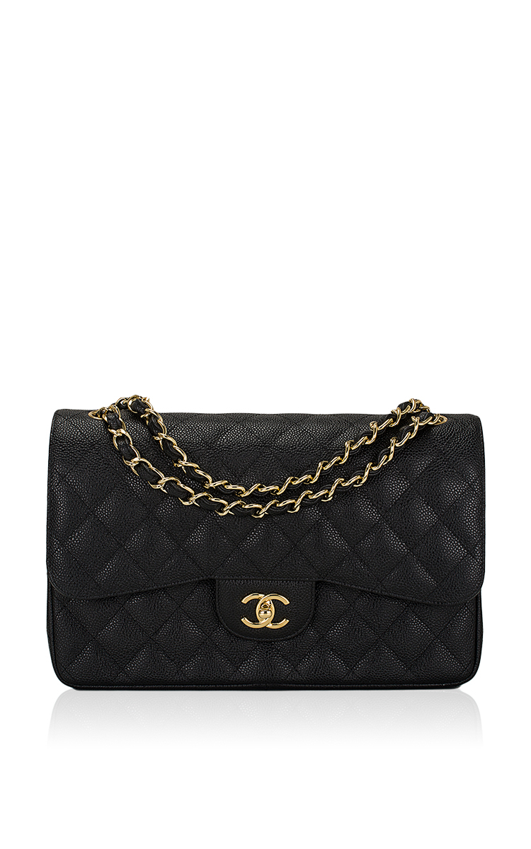 c83d3e9f54c5 Lyst - Madison Avenue Couture Chanel Black Quilted Caviar Jumbo ...