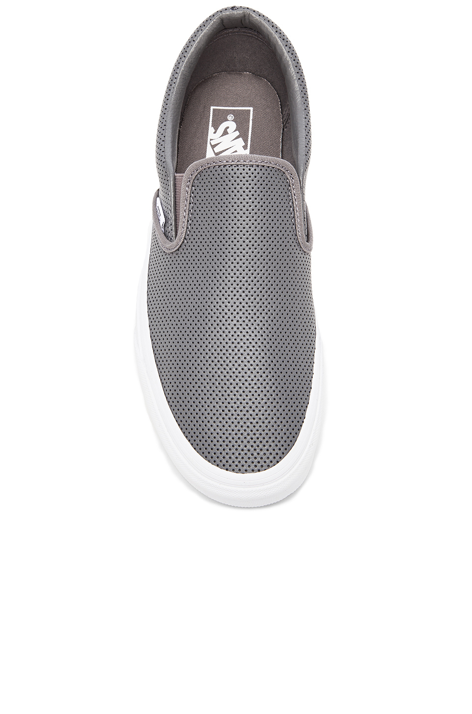 1599902c4817bf Lyst - Vans Classic Slip-On Perforated Leather in Gray for Men