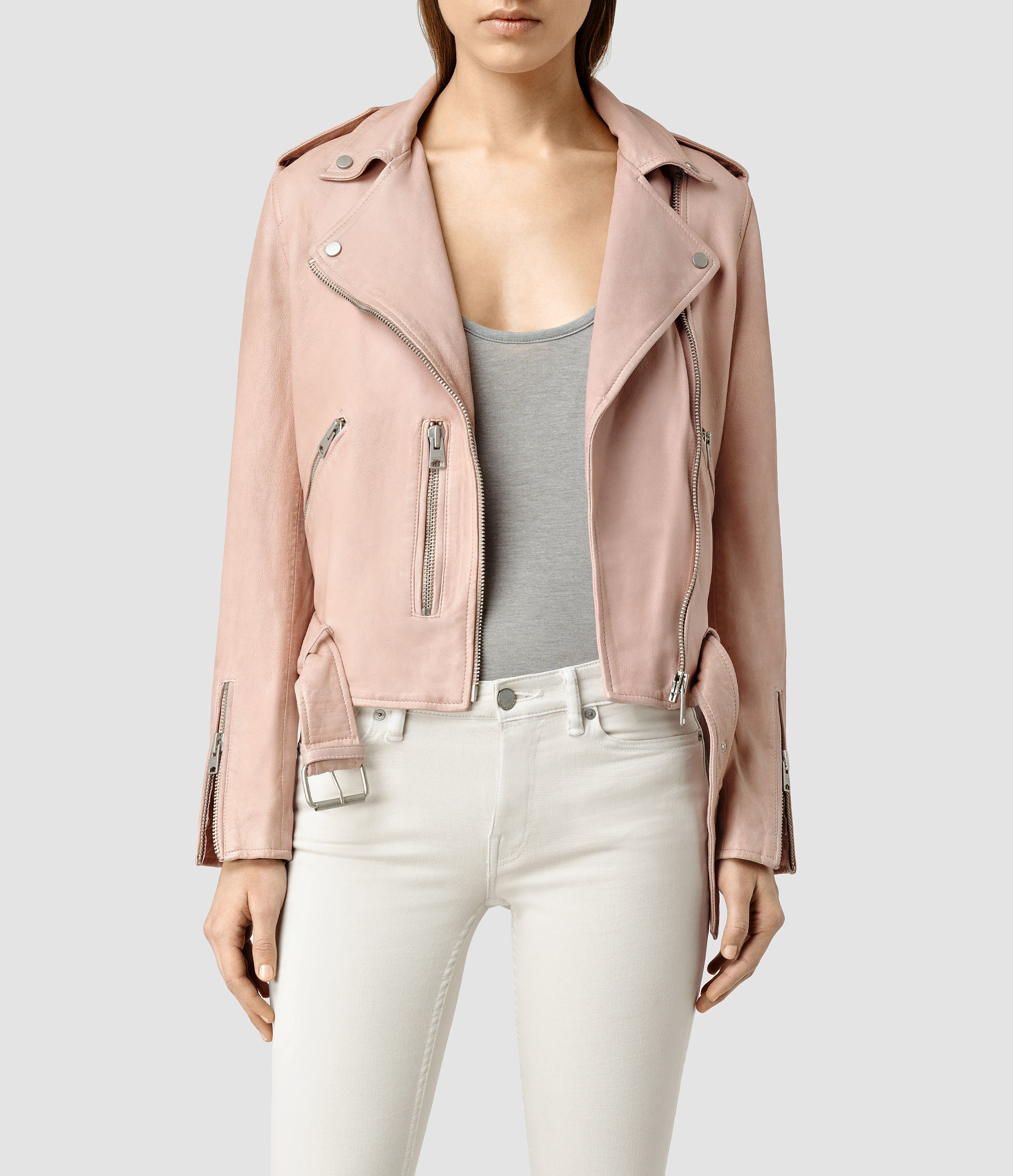 AllSaints Balfern Leather Biker Jacket - ShopStyle