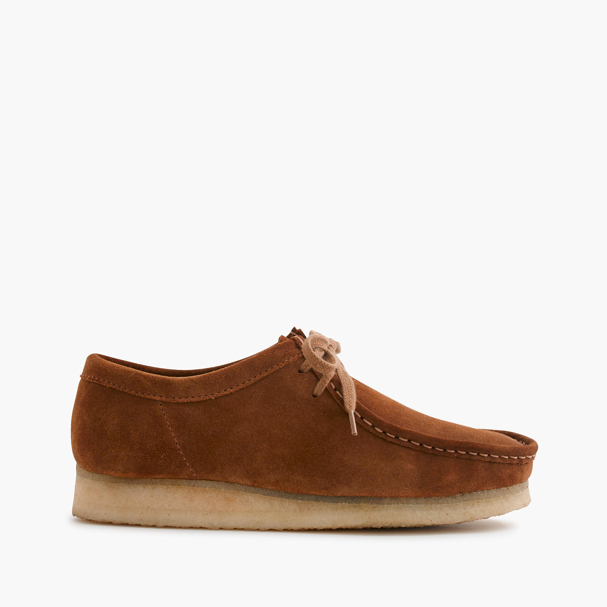 j crew clarks originals wallabee shoes in brown for lyst