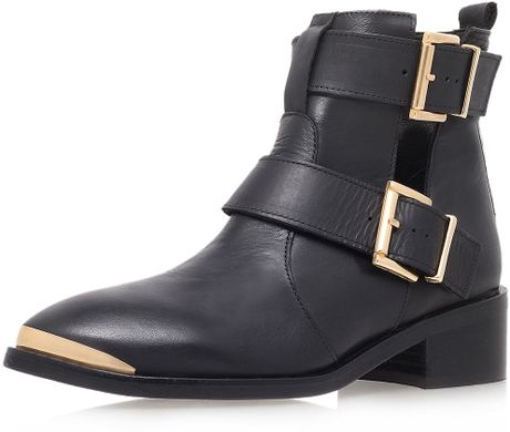 topshop low heel leather ankle boots by kurt geiger in