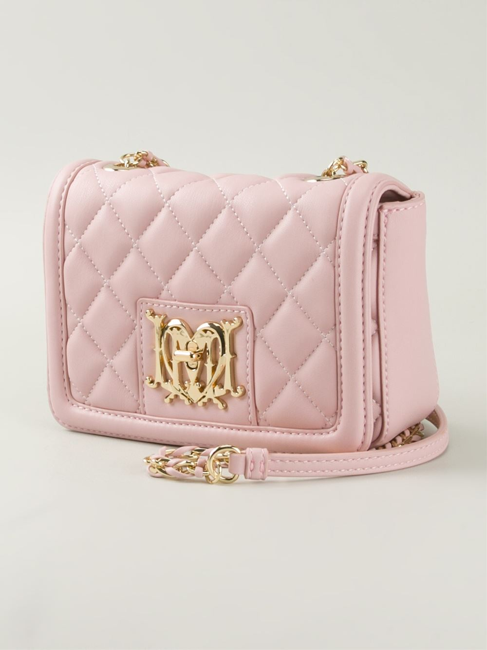 6eb67ee928c86 Lyst - Love Moschino Quilted-Leather Cross-Body Bag in Pink