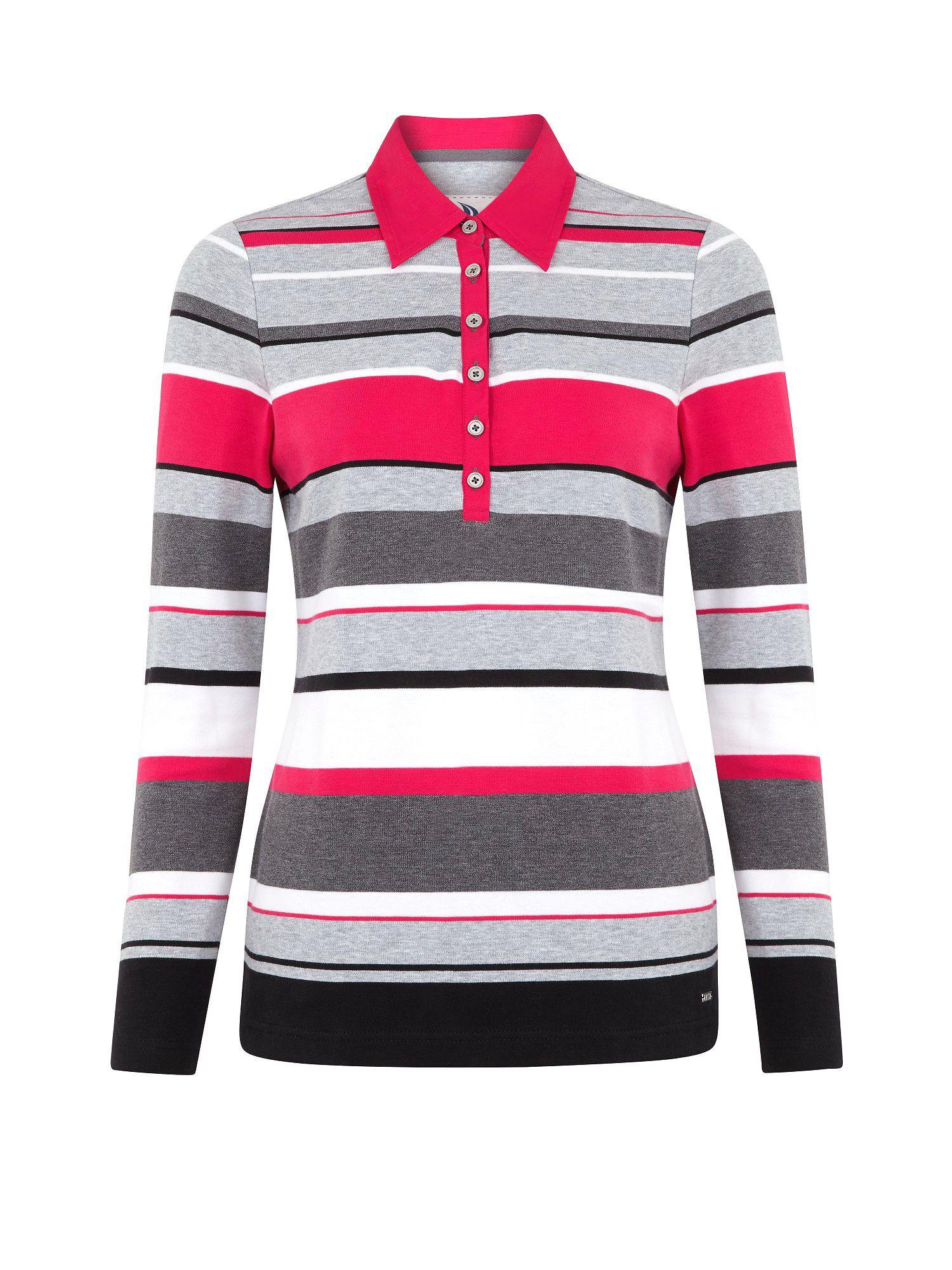 Lyst Dash Raspberry Striped Rugby Top In Pink