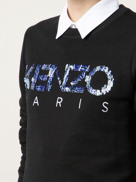 Kenzo Logo Sweatshirt in BlackKenzo Logo