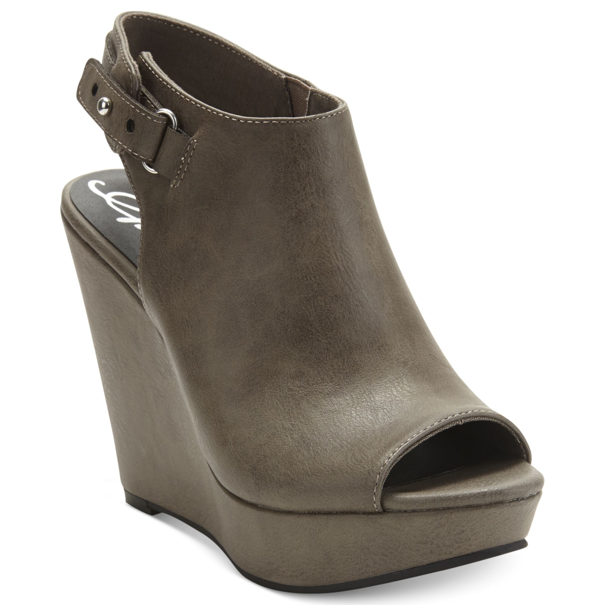 american rag russie platform wedge sandals in gray grey