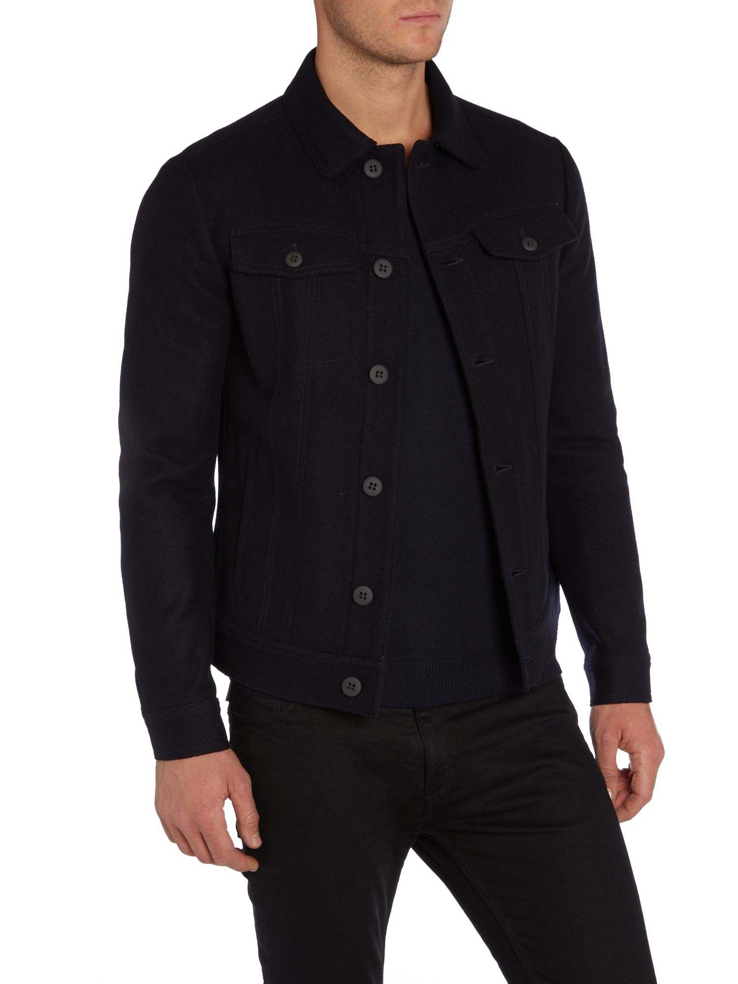 Sisley Men Casual Shirt Jacket In Blue For Men Lyst