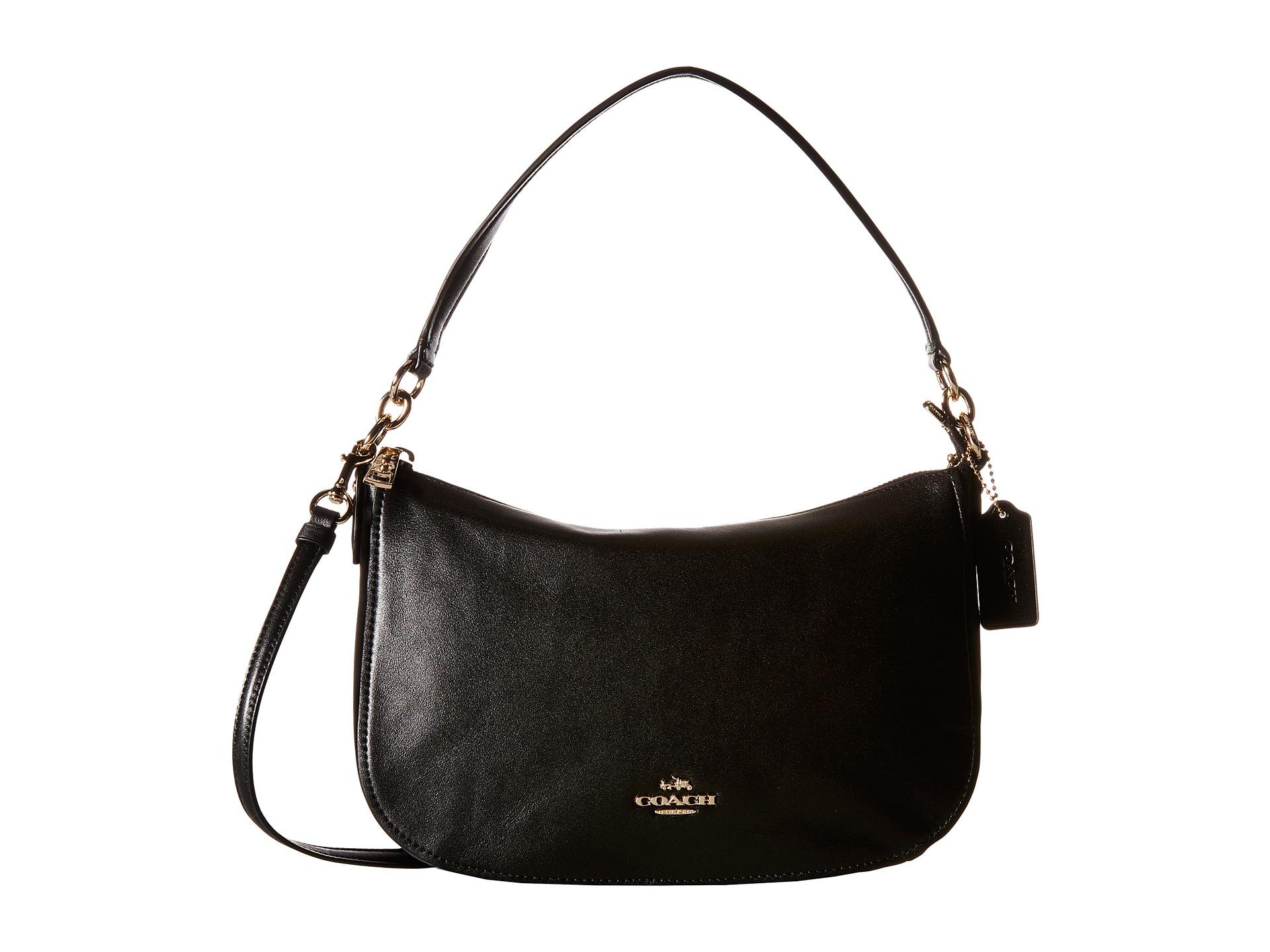 Chelsea Crossbody Bag in Black Calfskin Coach bryO5l