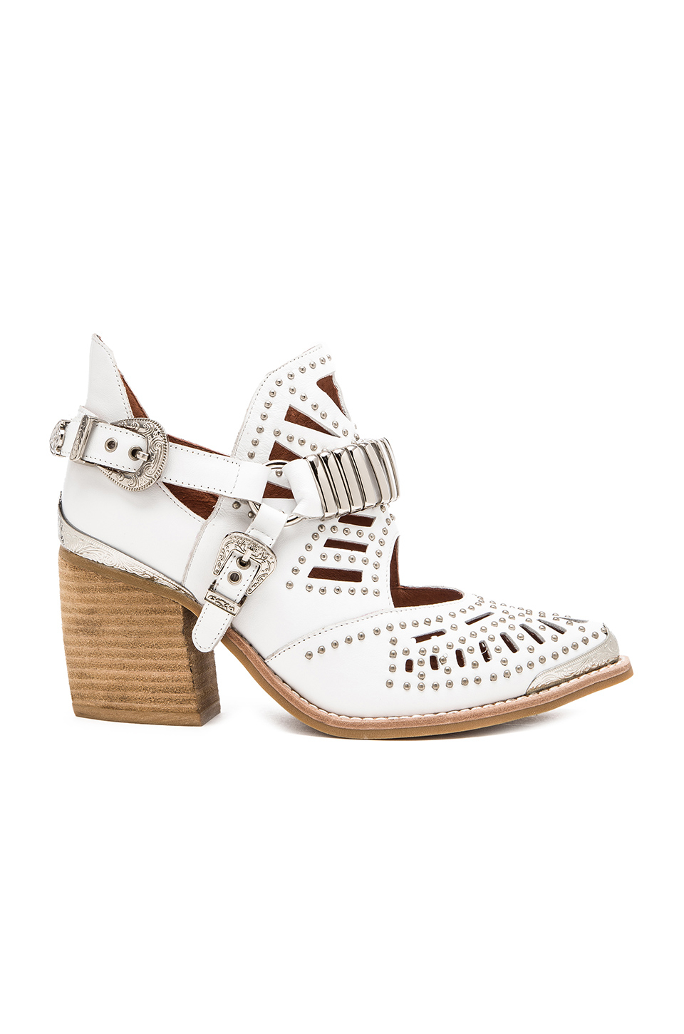 12a836d8c12 Lyst - Jeffrey Campbell Calhoun Leather Boots in White