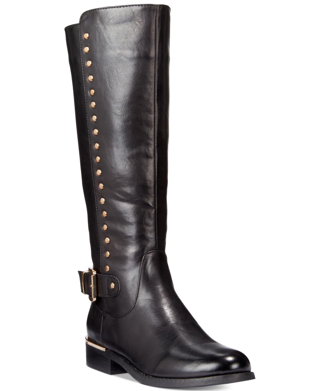 wanted pub studded boots in black lyst