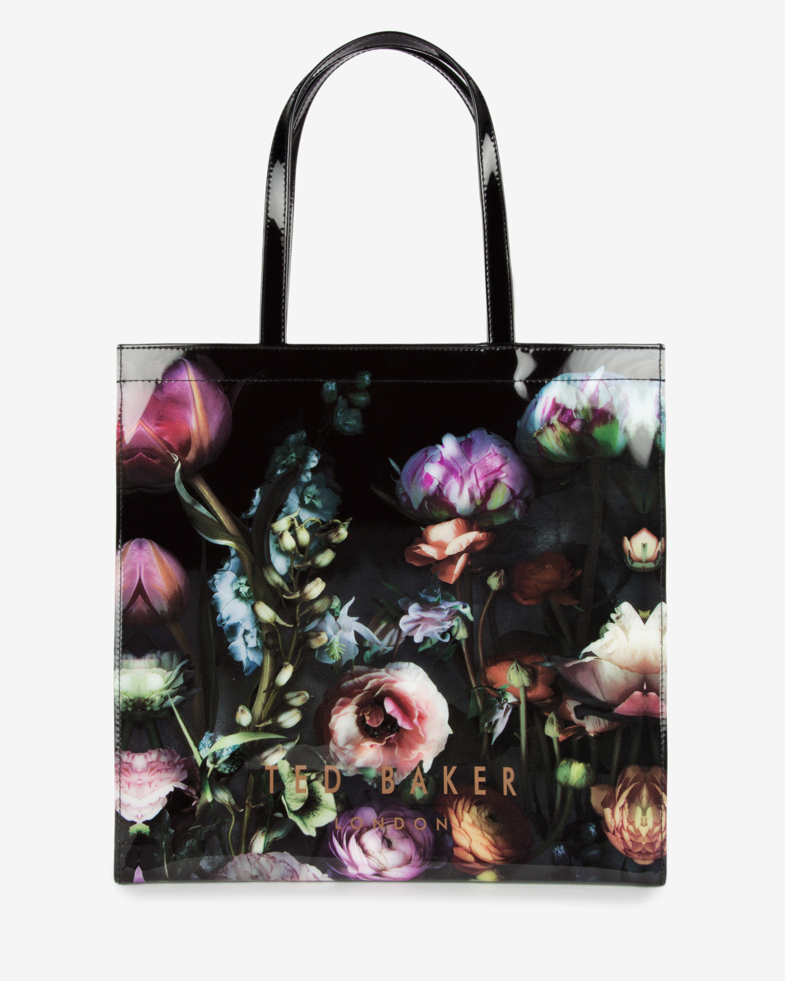 e28478644998 ... Ted Baker Women s Nellee Floral Focus Large Canvas Tote Bag · Lyst ...