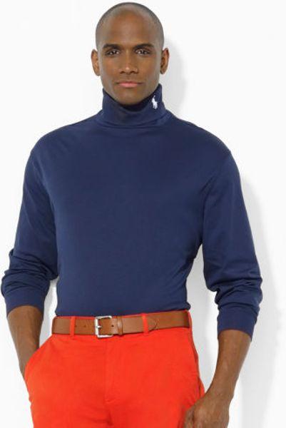 Polo Ralph Lauren Cotton Turtleneck In Blue For Men Lyst