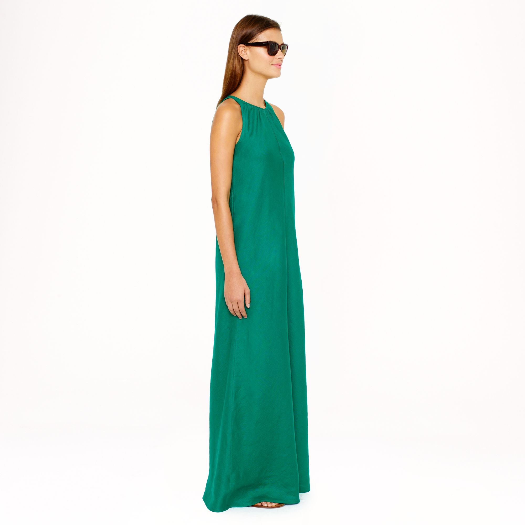 Lyst - J.Crew Linen Maxidress in Green