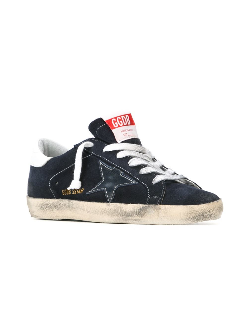 golden goose deluxe brand 39 super star 39 sneakers in blue lyst. Black Bedroom Furniture Sets. Home Design Ideas
