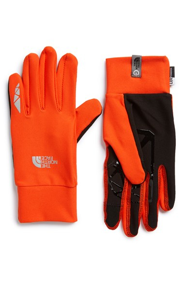 The north face 'runners' Etip Gloves in Orange for Men | Lyst