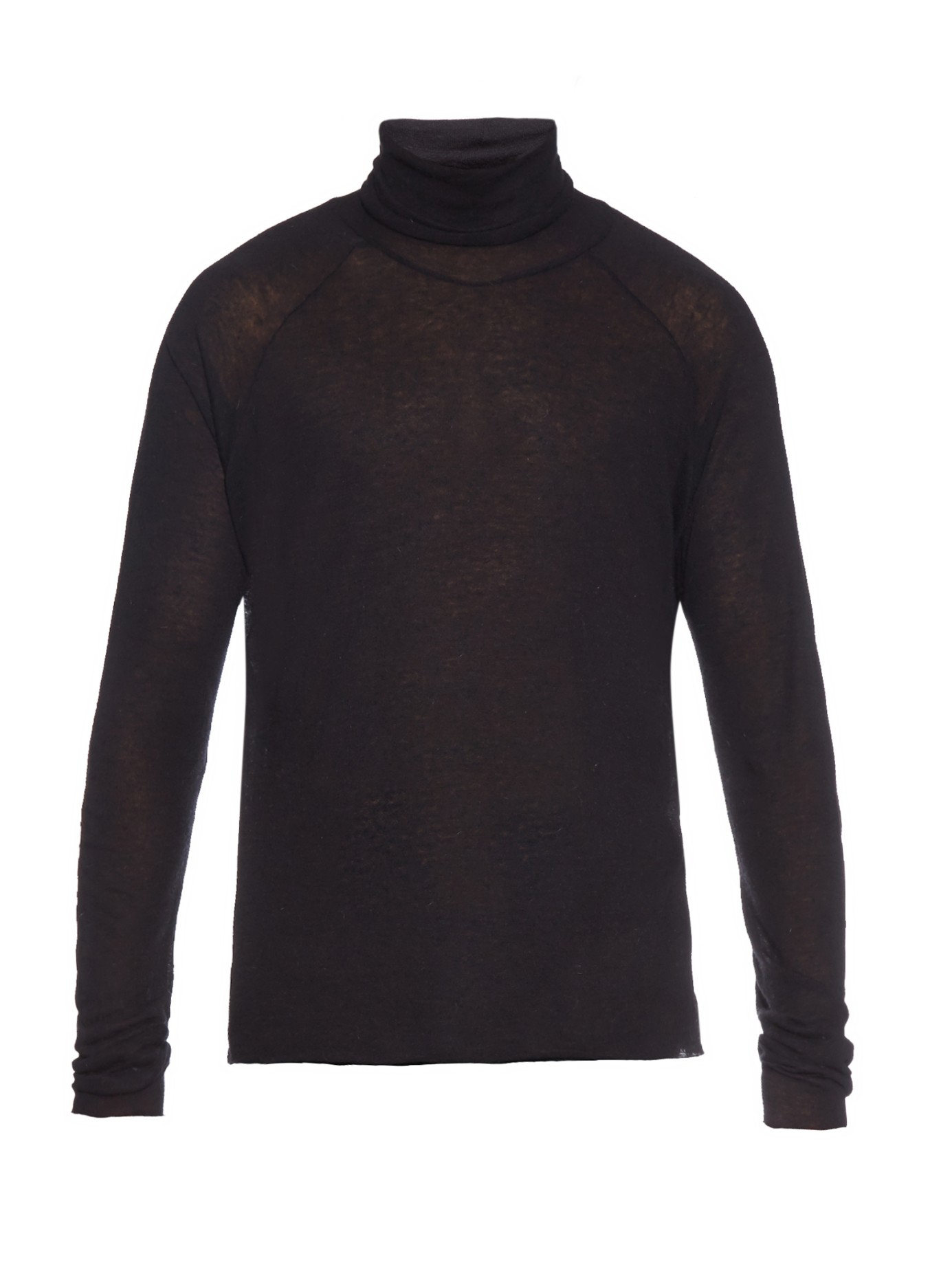 haider ackermann fine gauge roll neck sweater in black for. Black Bedroom Furniture Sets. Home Design Ideas