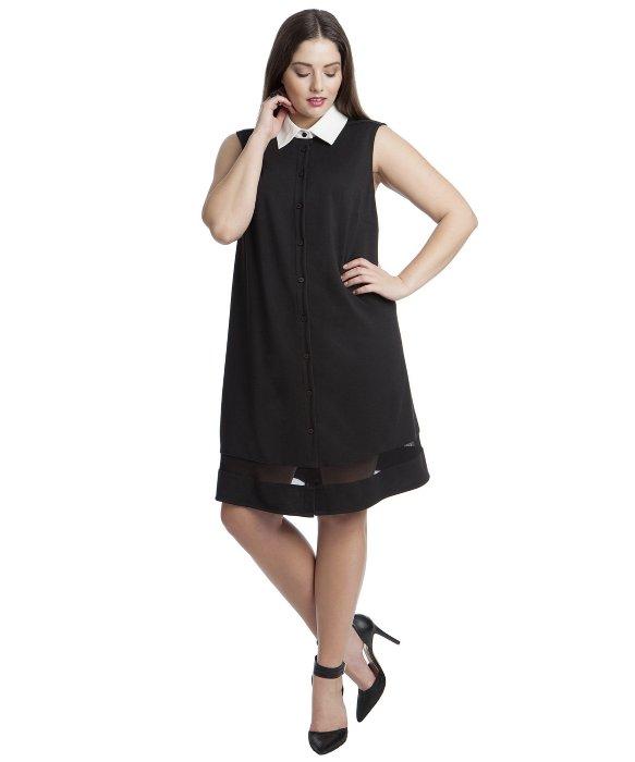 76a1d90e8e4030 Lyst - Abs By Allen Schwartz Blake Button-down Shirt Dress in Black
