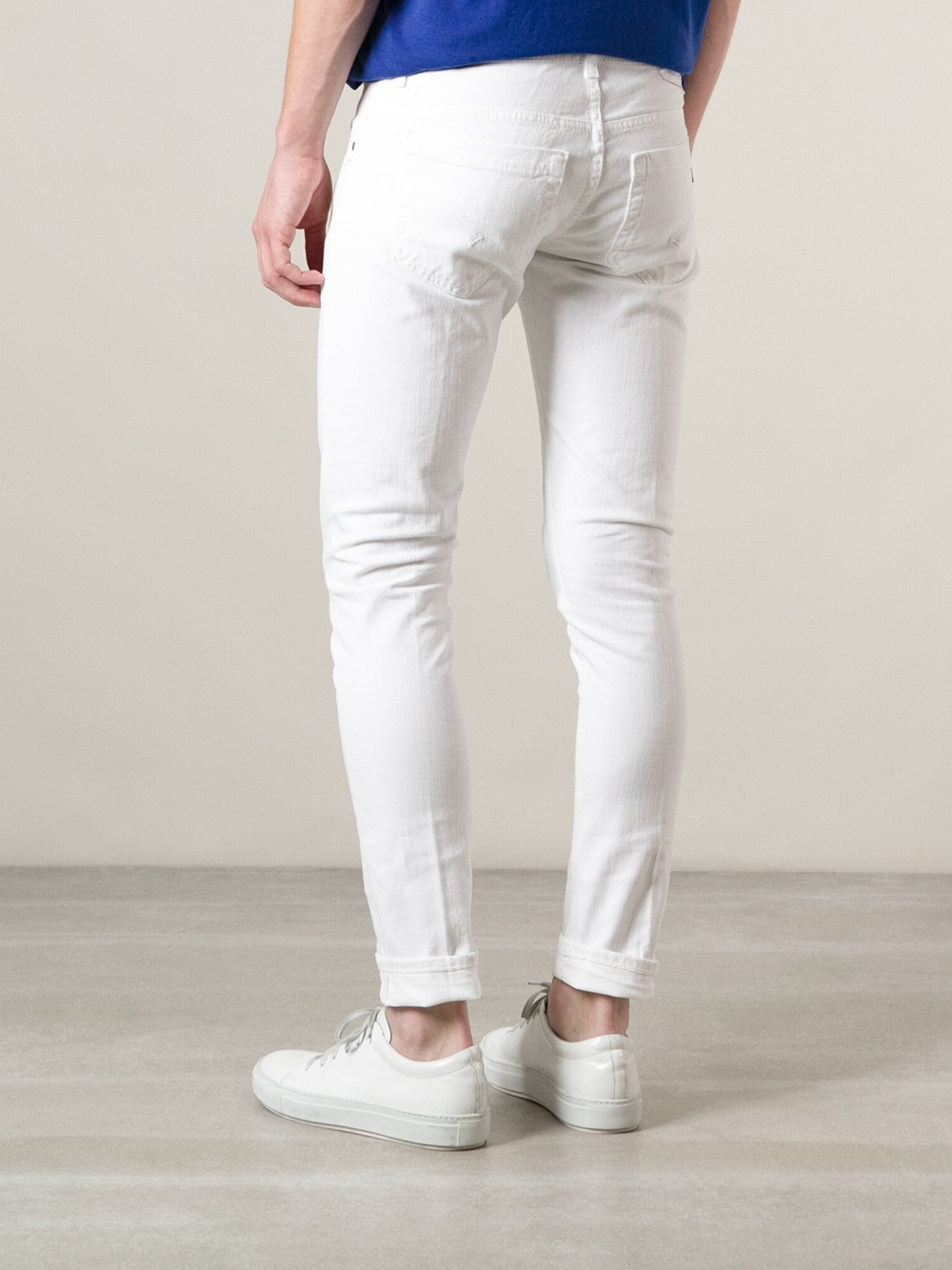 Dondup Skinny Jeans in White for Men | Lyst