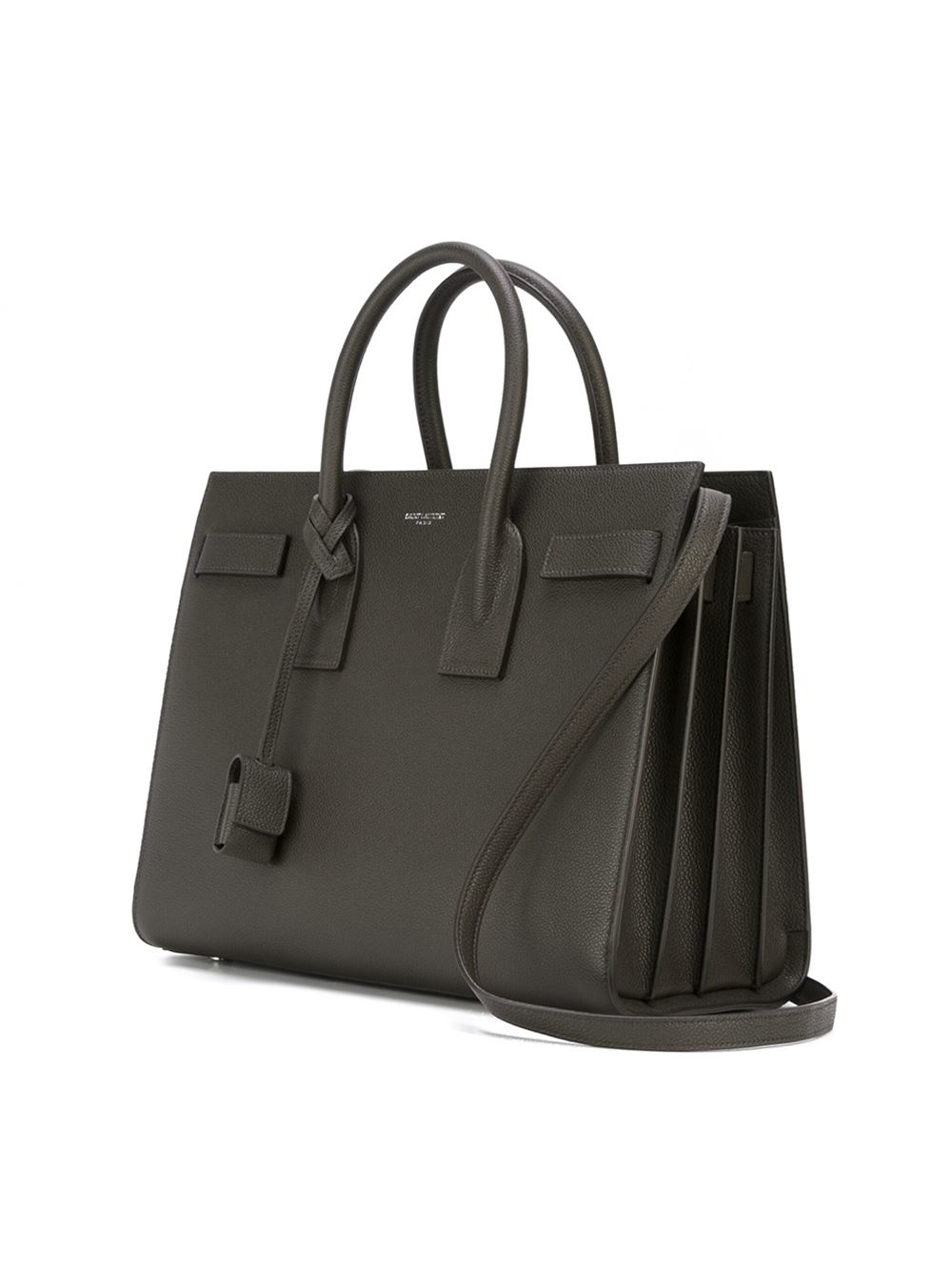 saint laurent small 39 sac de jour 39 tote in gray grey lyst. Black Bedroom Furniture Sets. Home Design Ideas