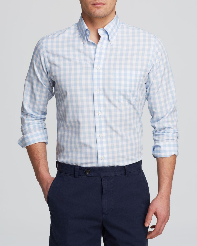 Gingham button down shirt mens custom shirt for Brooks brothers custom shirt