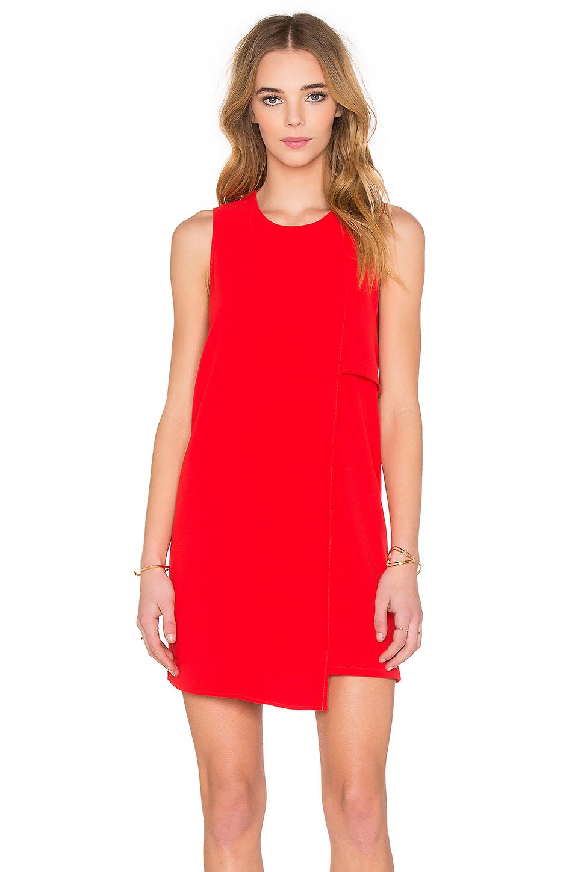 Fifteen twenty Asymmetrical Shift Dress in Red - Lyst