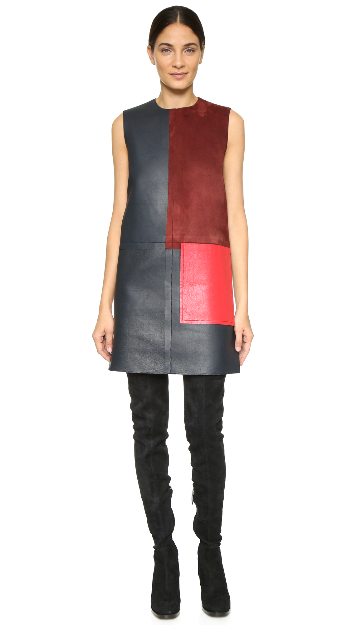 Leather dress Edun vPha8yaG