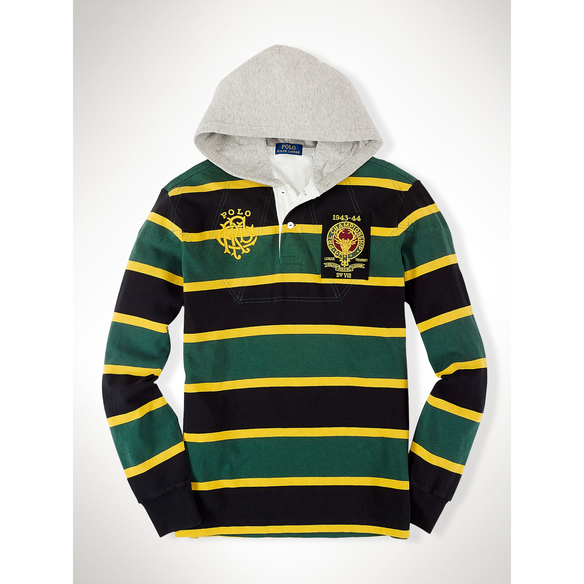 Lyst Polo Ralph Lauren Custom Fit Hooded Rugby In Green