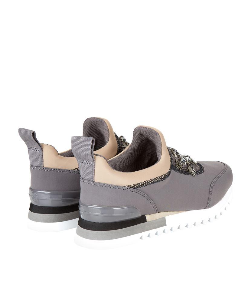 85d7beb48e8793 Tory Burch Rosas Runner Sneaker in Gray - Lyst