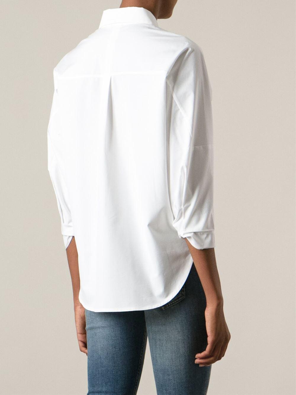 Lyst Victoria Beckham Boxy Shirt In White