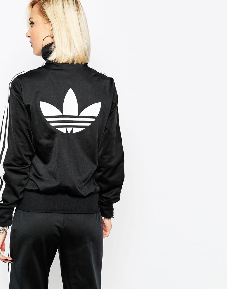 the best attitude a2b04 457ce adidas Originals 3 Stripe Zip Front Track Jacket in Black - Lyst