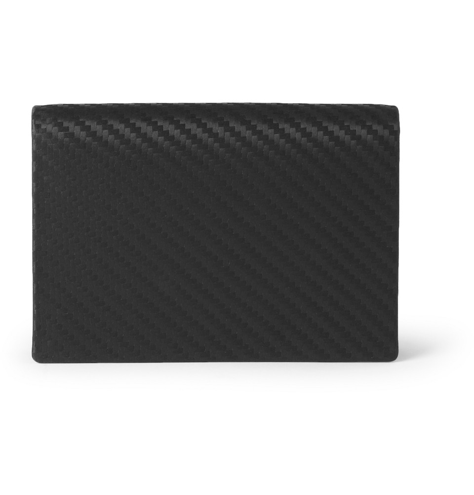 Lyst - Dunhill Embossed Chassis Leather Cardholder in Black for Men