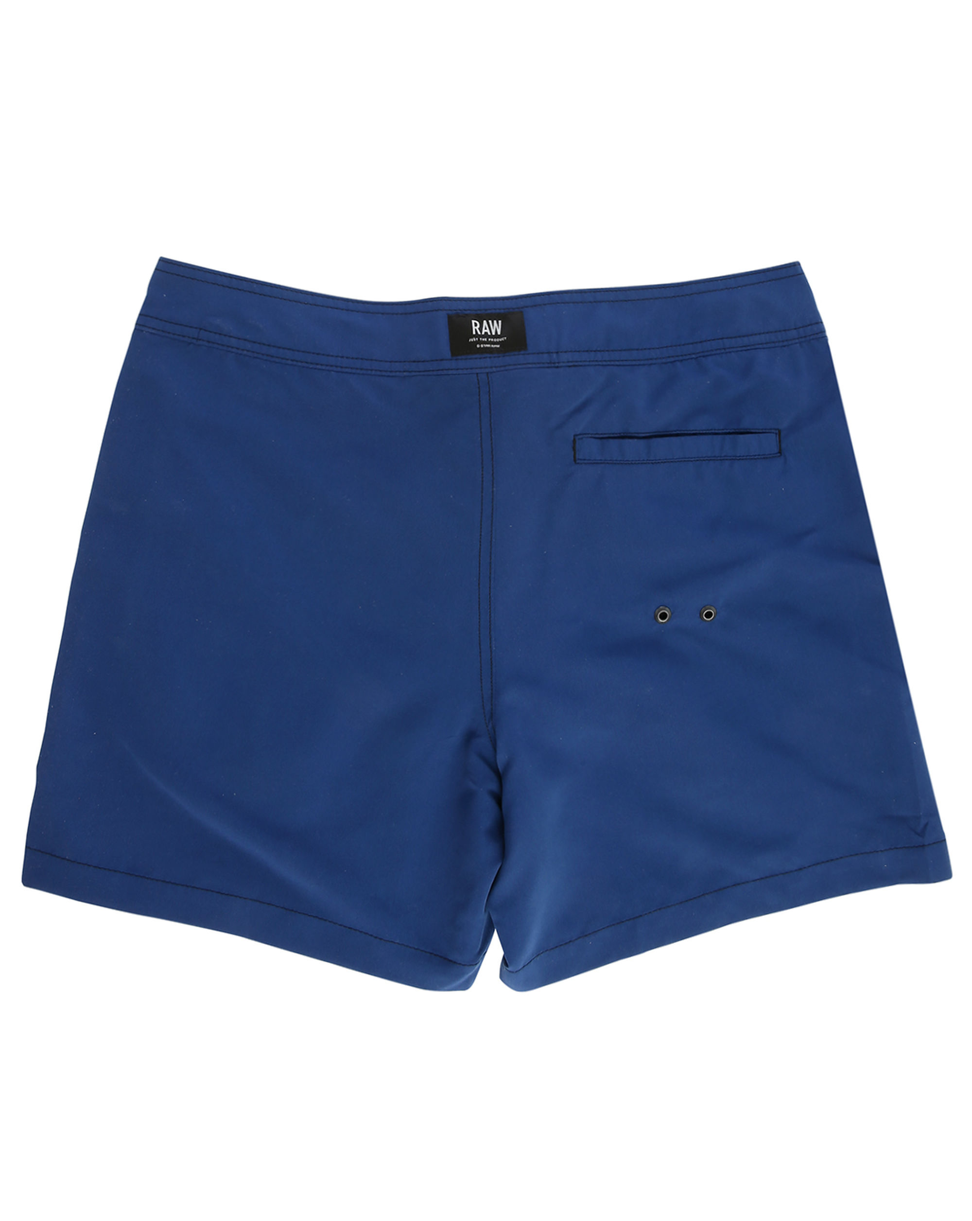star raw navy devano patch logo swim shorts in blue for men lyst. Black Bedroom Furniture Sets. Home Design Ideas