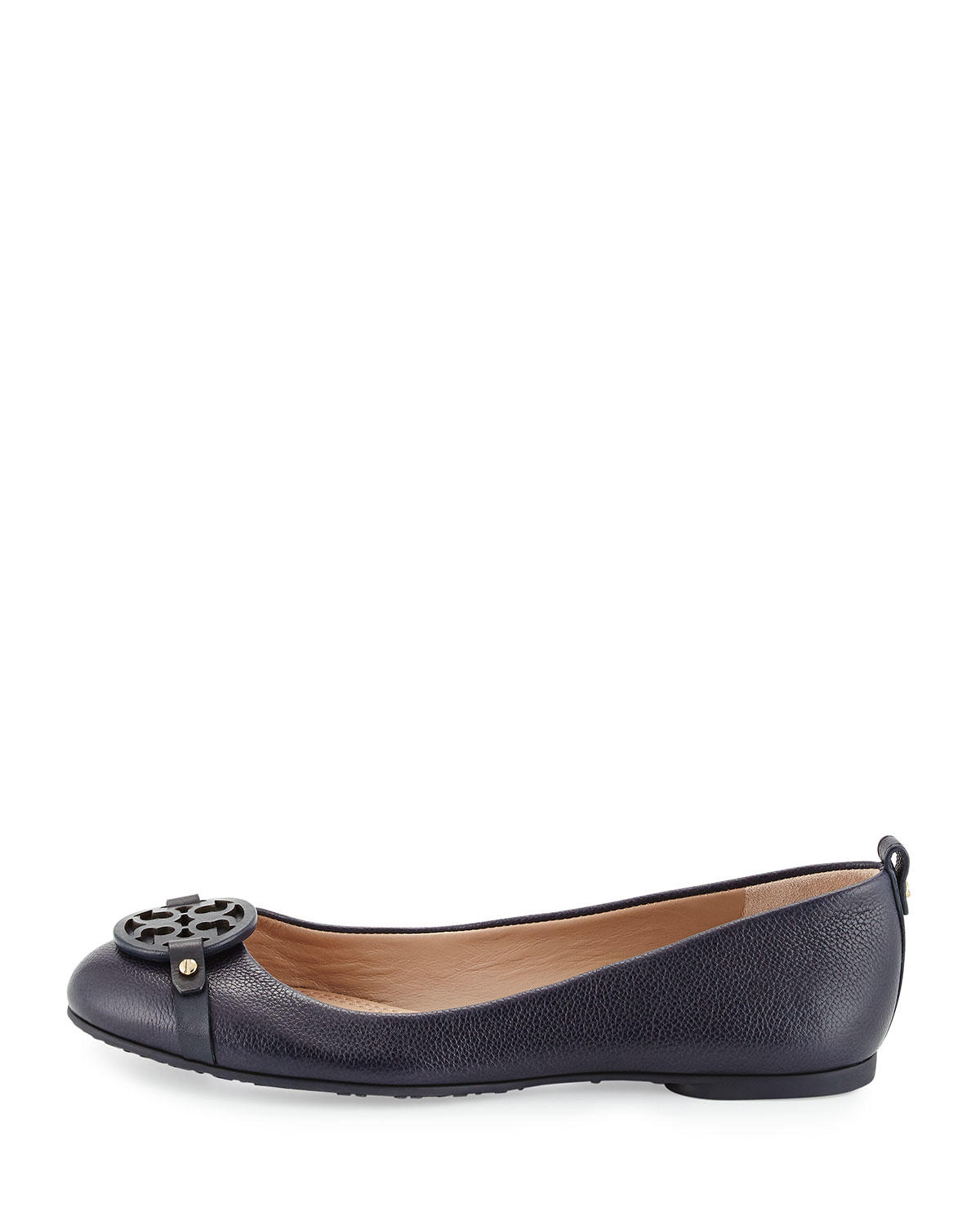 d1d736a6a Tory Burch Mini Miller Leather Ballet Flats in Blue - Lyst