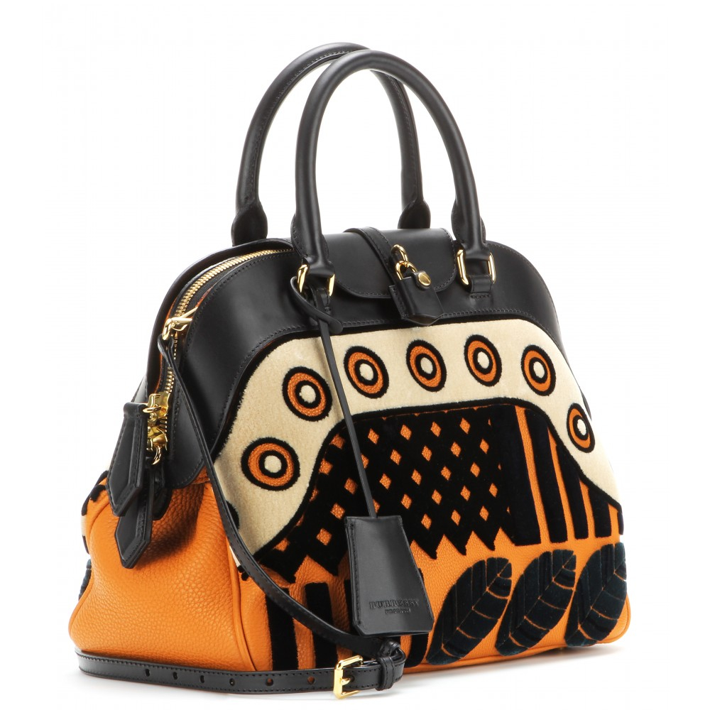 Burberry Prorsum Milverton Medium Velvet and Leather Bowling Bag in ... abc50d3878259