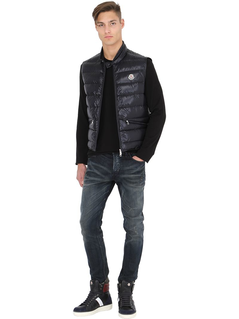 7a3fd09c6027 Lyst - Moncler Gui Quilted Nylon Down Vest in Black for Men