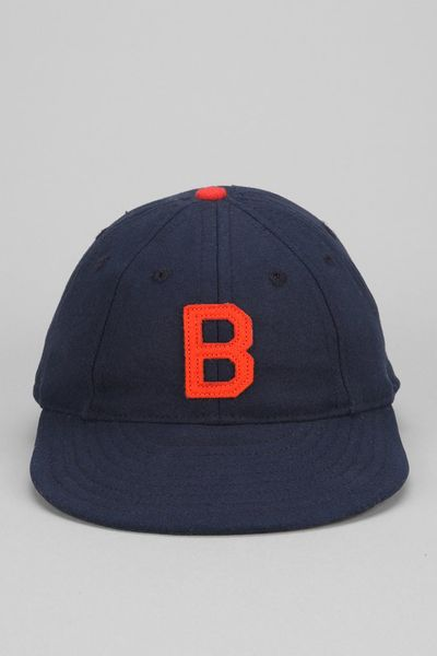 outfitters ebbets field 8 panel baseball hat in blue