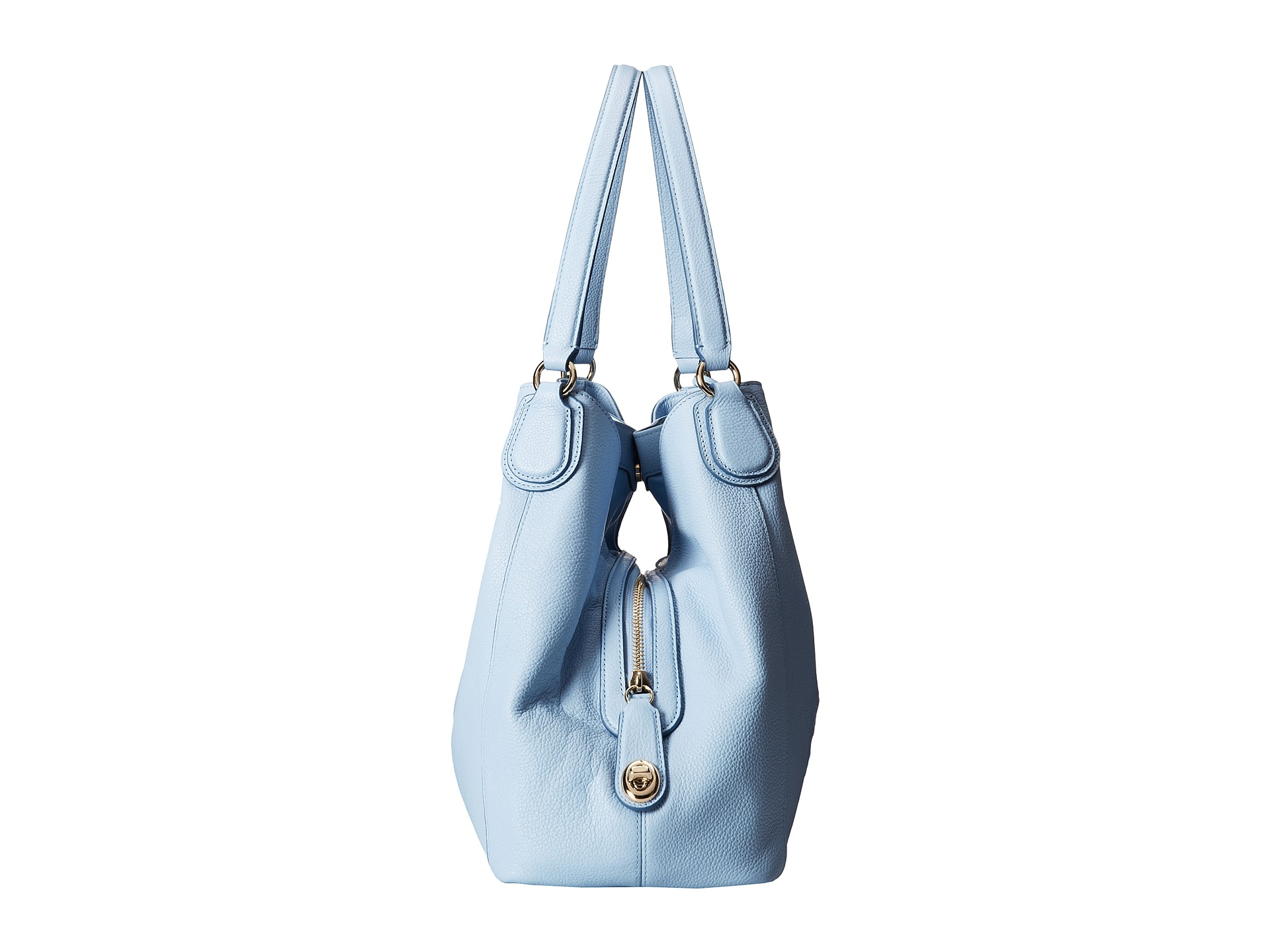99a3292065 Lyst - COACH Embossed Horse Carriage Edie Shoulder Bag in Blue