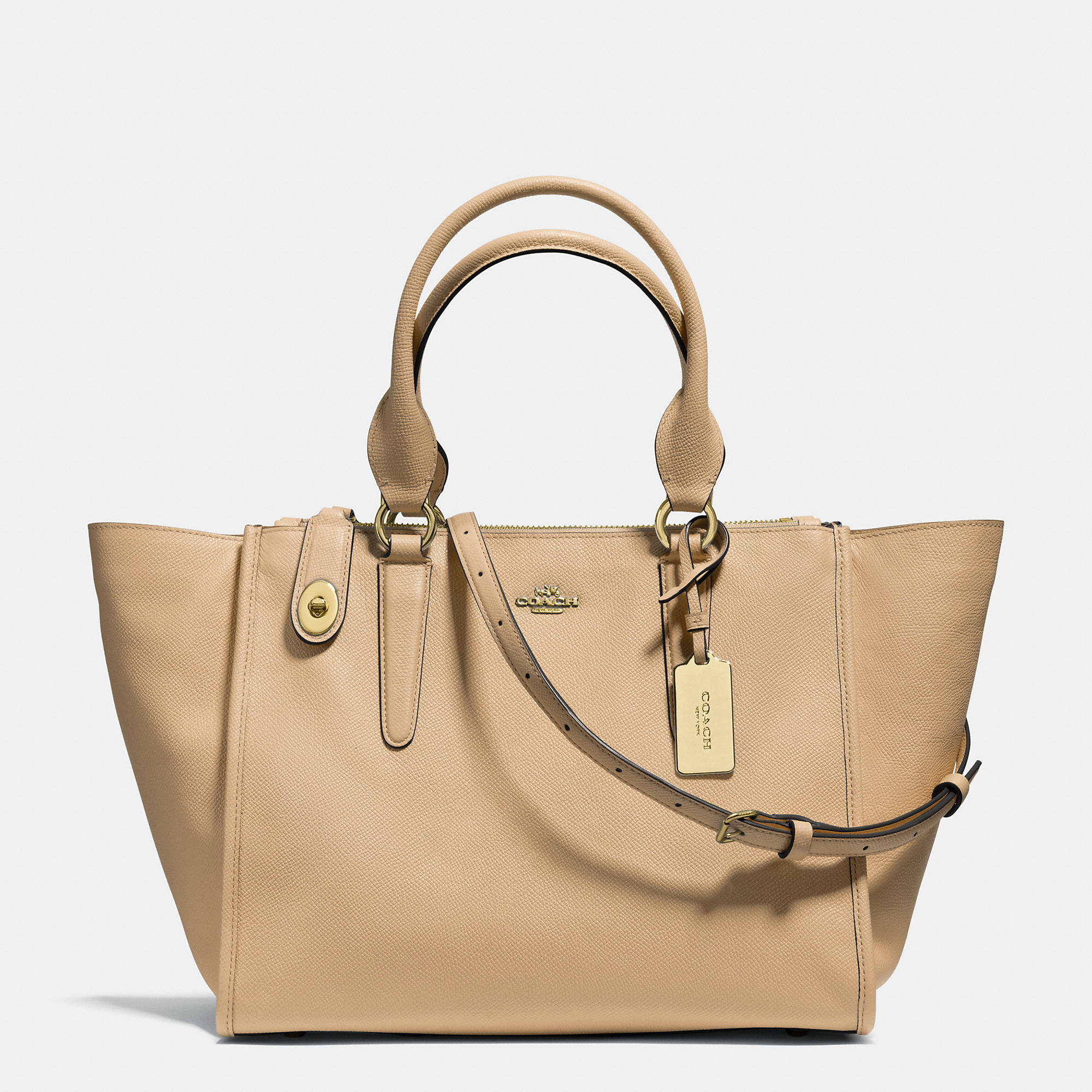 Coach Crosby Carryall In Crossgrain Leather in Natural | Lyst