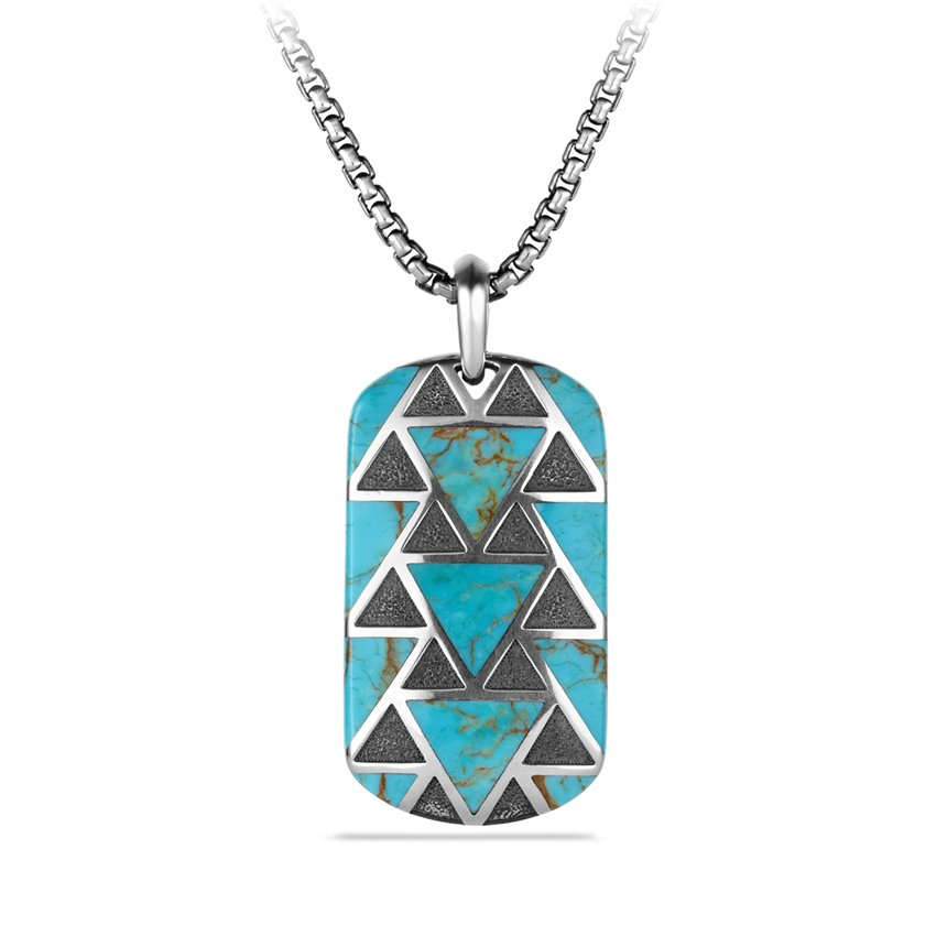Lyst david yurman frontier tag with turquoise in blue for men gallery aloadofball Image collections