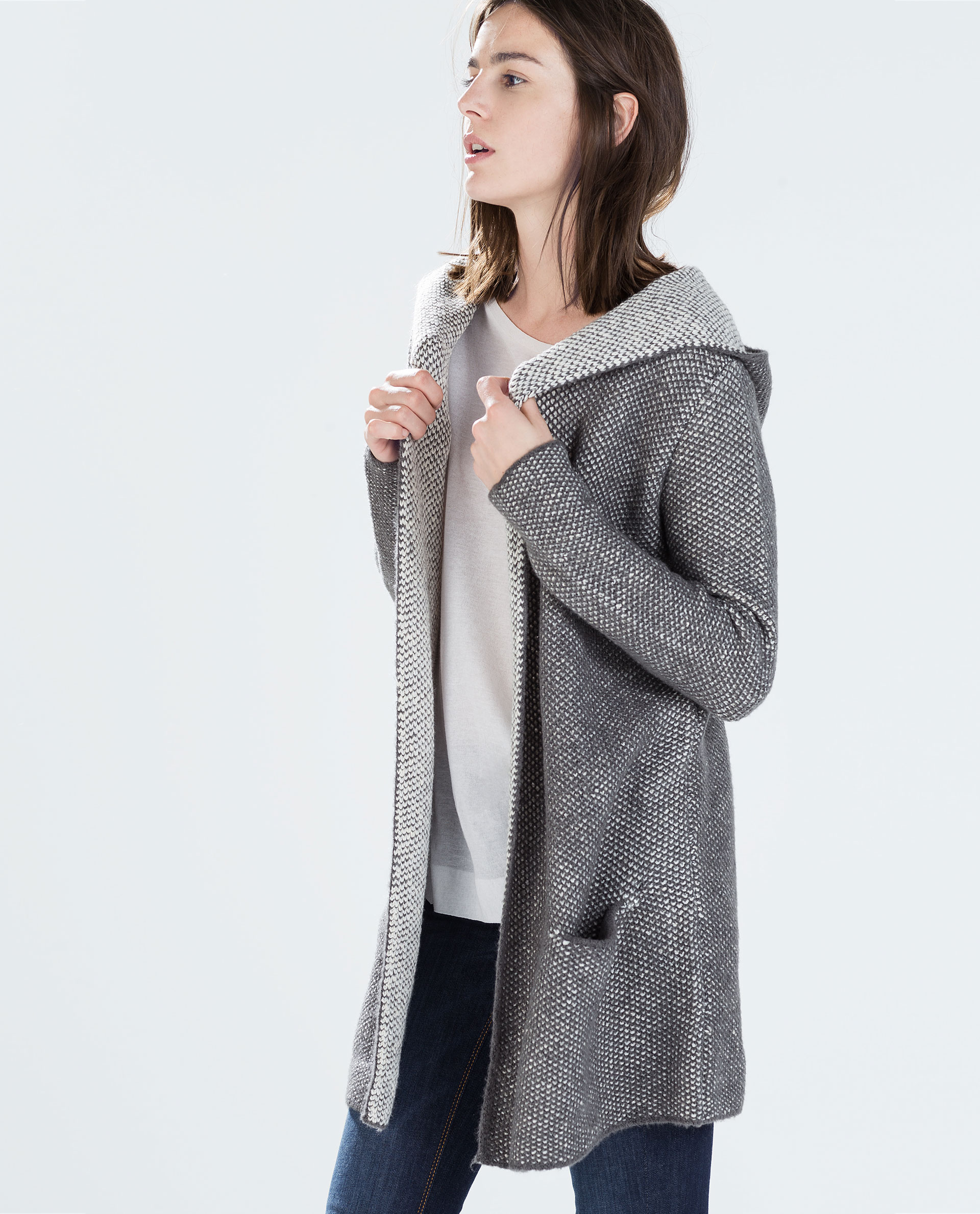 zara knitted cardigan ladies sweater patterns