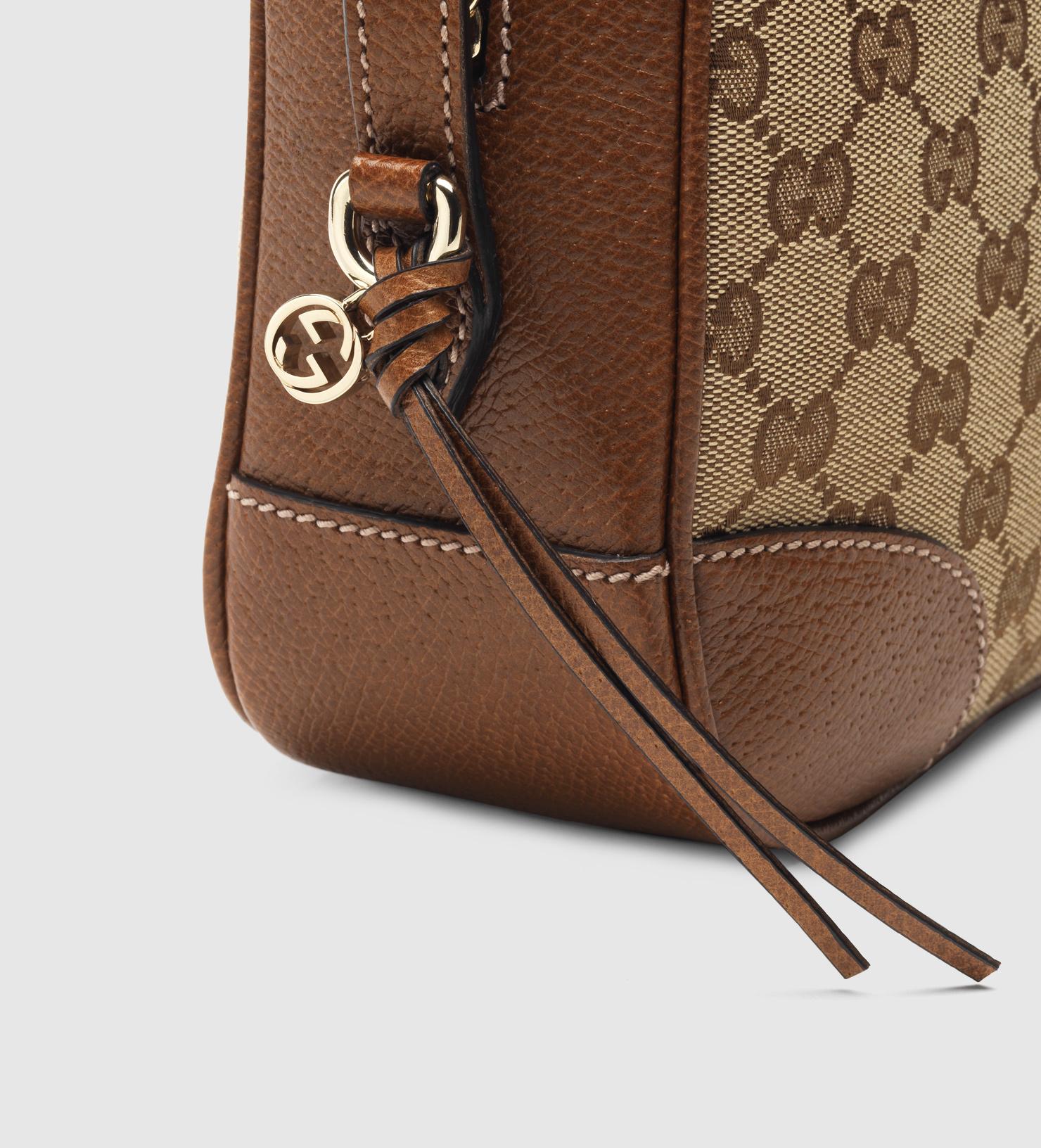 221da072958179 Gucci Bree Original Gg Canvas Mini Messenger Bag in Brown - Lyst