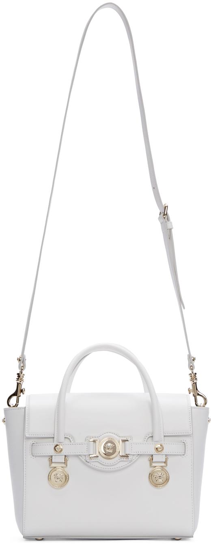 Lyst - Versace White Leather Medusa Medallion Satchel in White a3403decffcc2