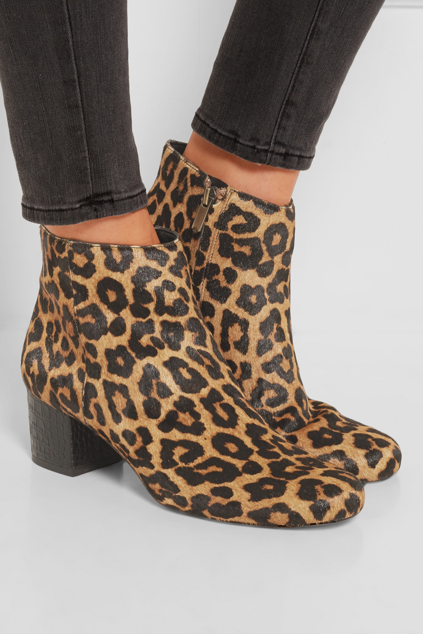 44331a49b4d9 Lyst - Sam Edelman Edith Leopard-print Calf Hair Ankle Boots in Brown