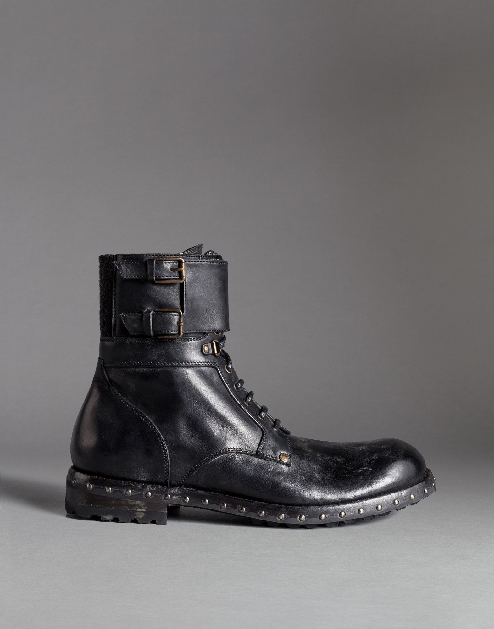 dolce gabbana mould effect leather san pietro combat